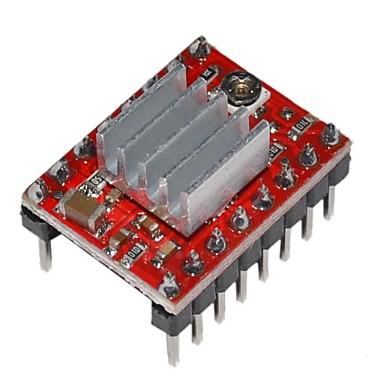 a4988 stepper motor strømforsyning modul for 3d printe med kjøleribbe