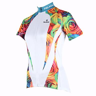 ILPALADINO Bisiklet Forması Kadın's Kısa Kollu Bisiklet Forma Üstler Bisiklet Elbiseleri Hızlı Kuruma Ultravioleye Karşı Dayanıklı Nefes