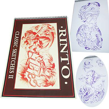 Classic Tattoo Sketches Pattern Manuscript