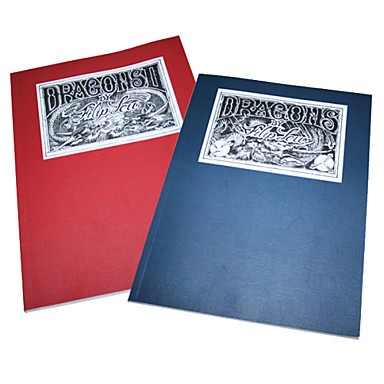 2pcs Dragon Tattoo Pattern Manuscript