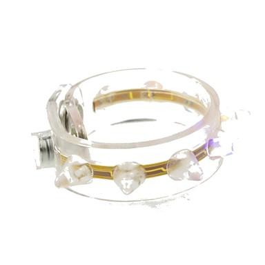 SENCART LED-Nachtlicht LED-Kette Wasserfest Batterie Wasser-resistente Epoxy-Abdeckung PBT 1 Lampen Set 22.0*2.0*1.5cm