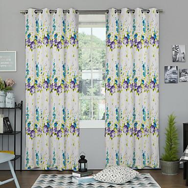 Eén paneel Window Behandeling Designer , Bloem Woonkamer Polyester Materiaal Curtains Drapes Huisdecoratie For Venster