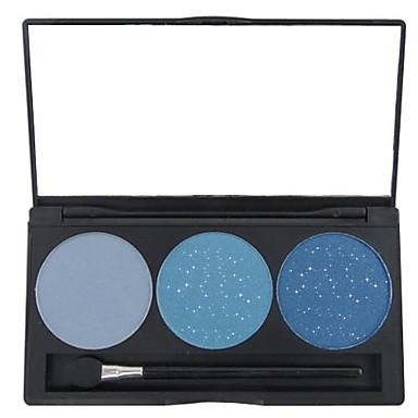 3 Farben Lidschatten / Puder Auge Alltag Make-up Bilden Kosmetikum / Matt / Schimmer