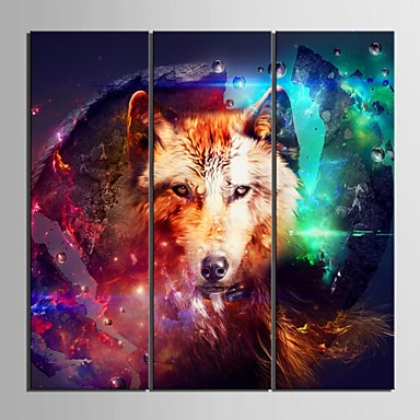 Животные 3 панели Вертикальная С картинкой Декор стены Украшение дома