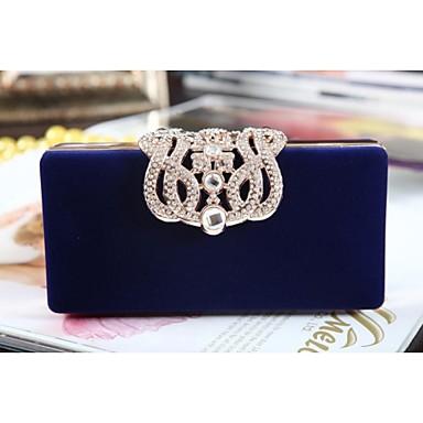 Damen Taschen Samt Abendtasche Kristall Verzierung / Kette für Hochzeit / Besondere Anlässe / Tag-Clutches Purpur / Rot / Blau