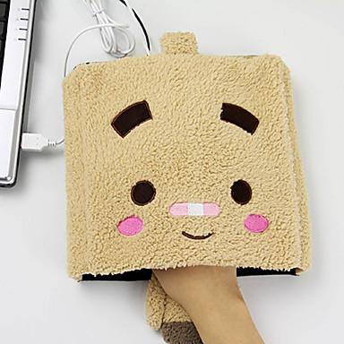 нагревают творческий квадратное лицо мультфильм Pattern USB теплее мышь стороны теплее