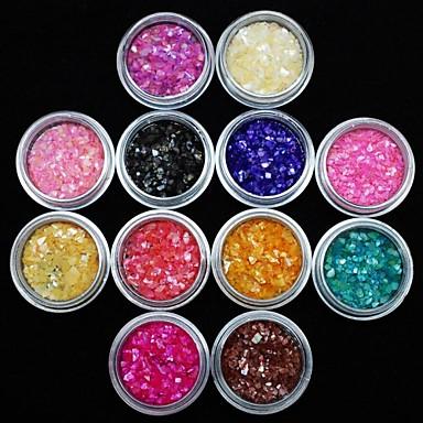 12 pcs Nail Smykker Frukt / Blomst / Abstrakt Smuk Daglig Nail Art Design / Akryl / Tegneserie / Punk