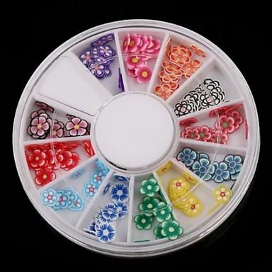 12-renk meyve tasarım polimer tırnak sanat dekorasyon