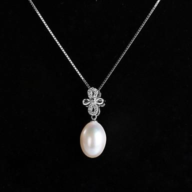 Damen Sterling Silber Silber  -  Weiß Modische Halsketten Für Besondere Anlässe
