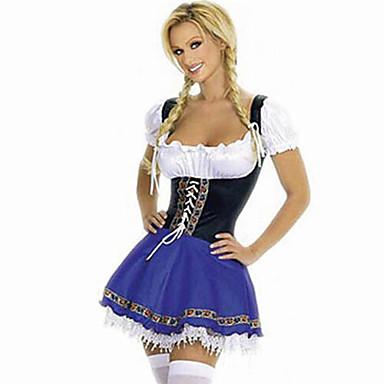 Bayerisch Kellnerin Oktoberfest Cosplay Kostüme Damen Halloween Oktoberfest Fest / Feiertage Halloween Kostüme Patchwork