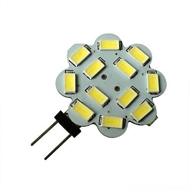 1.5W 6000-6500 lm G4 LED Spotlight 12 leds SMD 5630 Natural White DC 12V