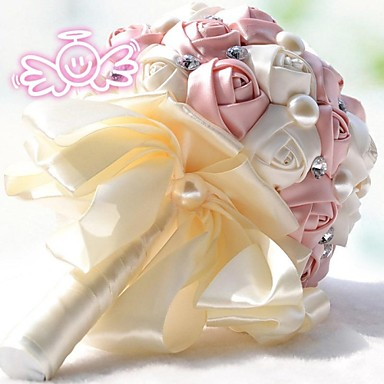 Wedding Flowers Bouquets Wedding Lace Rhinestone Polyester 11.8