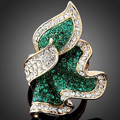Γυναικεία Δακτύλιος Δήλωσης - Rose Gold, Προσομειωμένο διαμάντι, Κράμα Πολυτέλεια, Μοντέρνα Ένα Μέγεθος Σμαραγδί / Φούξια / Μπλε Απαλό Για Πάρτι