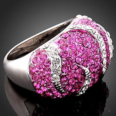 abordables Bague-Femme Bague Fantaisie Grosse Zircon / petit diamant Écran couleur Zirconium / Imitation Diamant / Alliage dames / Luxe / Mode Soirée Bijoux de fantaisie