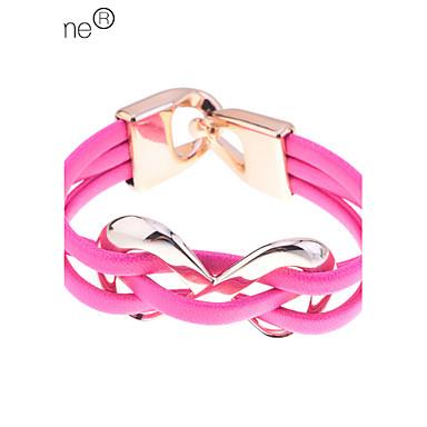 Lureme® Candy Color Infinite Charm PU Bracelet