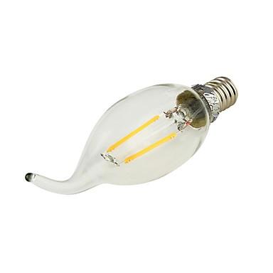 E14 LED Candle Lights C35 2 leds COB 180lm Warm White 3000K Decorative