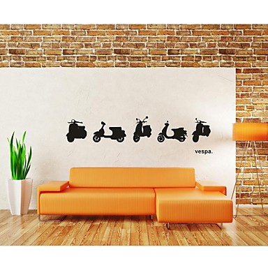 Wall stickers wall decals home decoration vespa motor for Poster mural zen deco