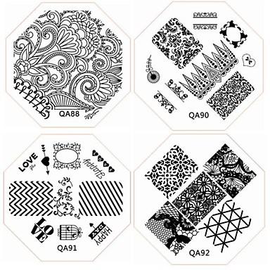 1 pcs Diğer Süslemeler şablon Mevye / Çiçek / Soyut Sevimli Günlük / Karikatür / Metal