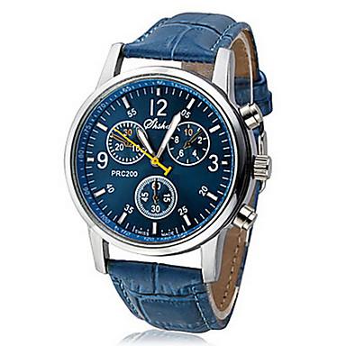 Herrn Quartz Armbanduhr Armbanduhren für den Alltag PU Band Freizeit Schwarz / Weiß / Blau