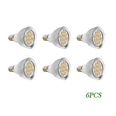 280 lm E14 GU10 Lâmpadas de Foco de LED 16 leds SMD 5730 Branco Quente Branco Frio AC 110-130V AC 220-240V
