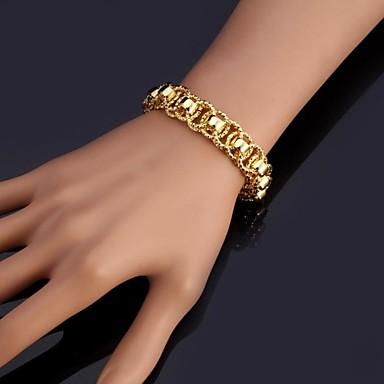 Kadın's Altın Kaplama Zincir & Halka Bileklikler Bilezikler Bileklik - Moda Gümüş Altın Bilezikler Uyumluluk Yılbaşı Hediyeleri Düğün
