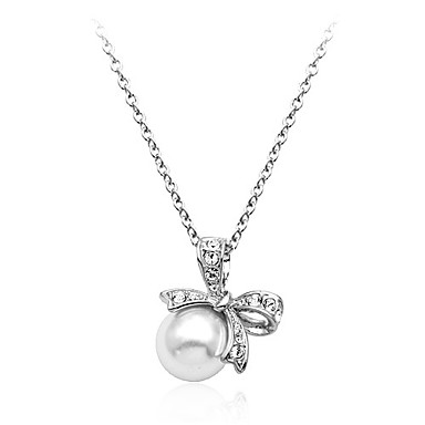 Lureme Women's Fashion Bowknot Preal Necklace