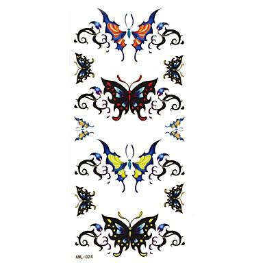 Serie de Animale Acțibilde de Tatuaj - Negru - Model - #(18.5x8.8) - Dame/Girl/Adult/Adolescent - Hârtie - Dame/Girl/Adult/Adolescent -