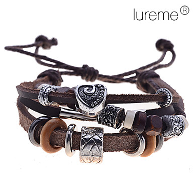 Women's Wrap Bracelet Leather Bracelet Leather LOVE Jewelry Daily Casual