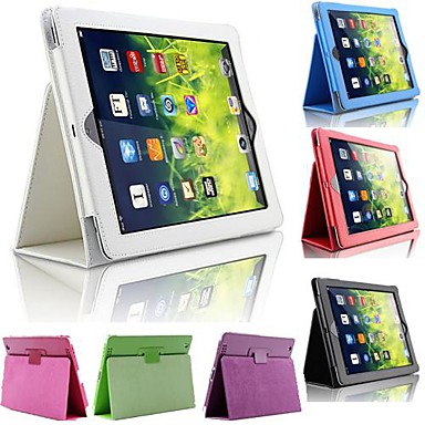 Case For iPad Air with Stand Full Body Cases Solid Colored PU Leather for iPad Air