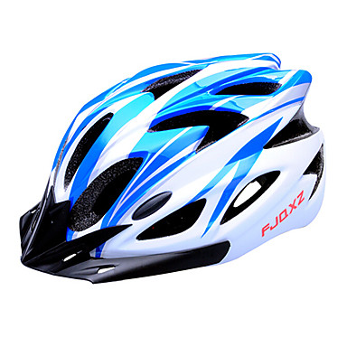 FJQXZ Adults Bike Helmet 18 Vents Impact Resistant, Removable Visor EPS, PC Road Cycling / Cycling / Bike - Blue Men's / Women's