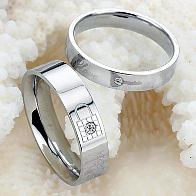 Women's Titanium Steel Couple Rings - Fashion Ring For Wedding / Party / Daily