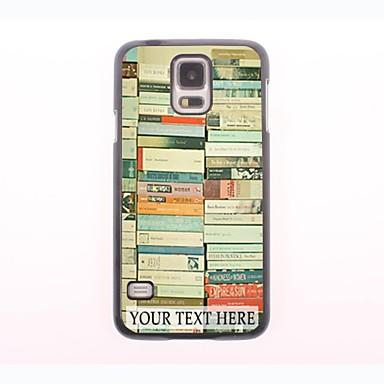 kişiselleştirilmiş telefon kılıfı - Samsung Galaxy S5 için yığın tasarım metal kasa