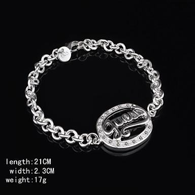 мода стерлинговый серебр покрынный браслет женщин классический женский стиль