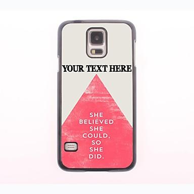 személyre szabott telefon esetében - háromszög kialakítás fém tok Samsung Galaxy S5