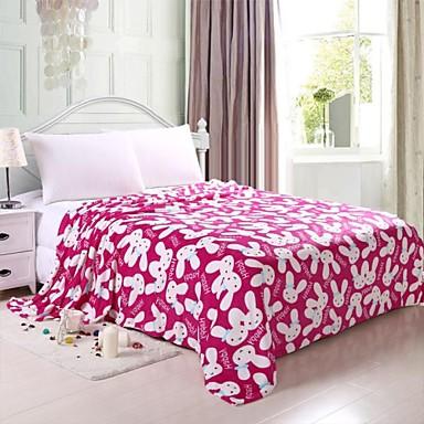 Morbido 100 di corallo plaid in pile per letto - Coperta letto matrimoniale ...