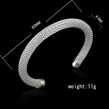 Fashion Sterling Silver Plated Bangle Women's Bracelet Elegant Style