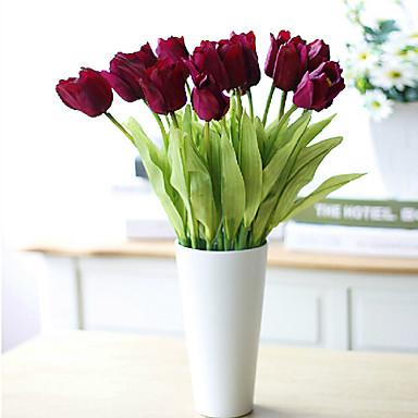 Ψεύτικα λουλούδια 3 Κλαδί Μοντέρνο Στυλ Τουλίπες Λουλούδι για Τραπέζι