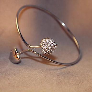 Women's Cuff Bracelet Luxury Classic Love Fashion Adjustable Open Imitation Diamond Alloy LOVE Heart Jewelry Christmas Gifts Daily Casual