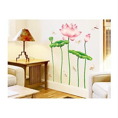 Yılbaşı Çiçekler Botanik Karton Duvar Etiketler Uçak Duvar Çıkartmaları Dekoratif Duvar Çıkartmaları, Vinil Ev dekorasyonu Duvar