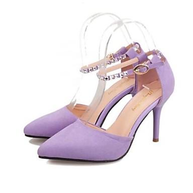 Черный / Желтый / Фиолетовый - Женская обувь - Для праздника - Дерматин - На шпильке - На каблуках / С острым носком - Обувь на каблуках