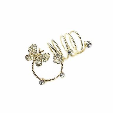 Damen Silber Ring - Stilvoll 7 Für Hochzeit Party / Abend