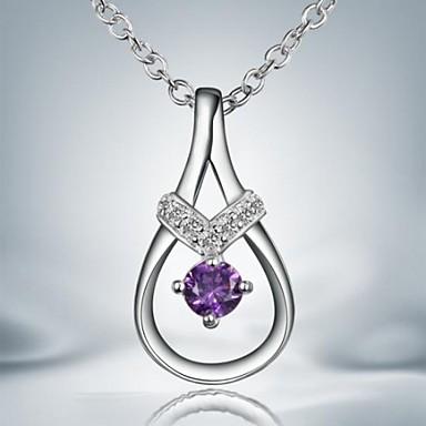 Серебряный Ожерелья с подвесками Серебрянное покрытие Повседневные Бижутерия