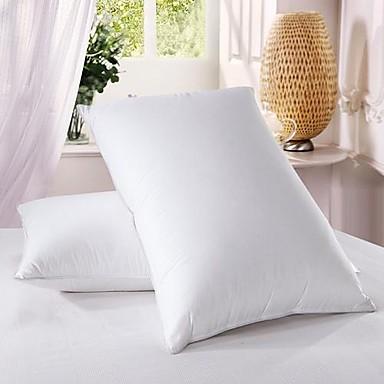 100% Cotton White Duck Down Feather Bedding Pillow