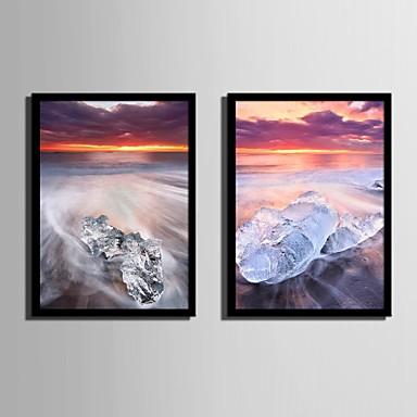 Manzara Çerçeveli Tuval / Çerçeve Seti Duvar Sanatı,PVC Siyah Keçesiz Frame ile Duvar Sanatı
