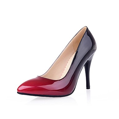 Women's Shoes Patent Leather Spring Summer Fall Stiletto Heel For Dress Black Red Brown Orange