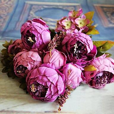 Künstliche Blumen 1 Ast Europäischer Stil Rosen Tisch-Blumen