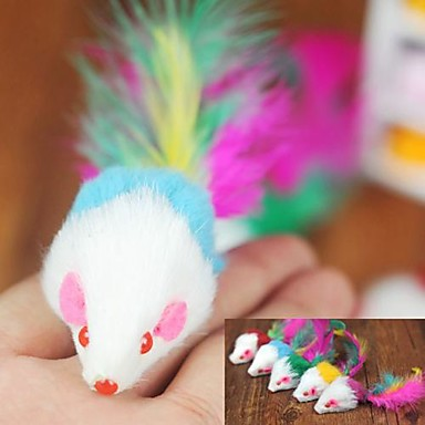Cat Toy Pet Toys Teaser Feather Toy Mouse Textile For Pets