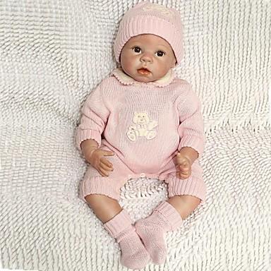 NPK DOLL Lebensechte Puppe Baby 22inch Silikon / Vinyl - Neugeborenes, lebensecht, Handgemacht Mädchen Kinder Geschenk