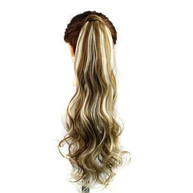 povoljno Perike i ekstenzije-Wavy Konjski repići sintetički Kose za kosu Ugradnja umetaka Zlatni Plava Dnevno
