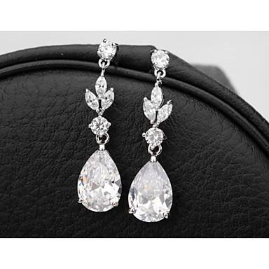 Women's 1 Drop Earrings Cubic Zirconia Cubic Zirconia Drops Jewelry Costume Jewelry